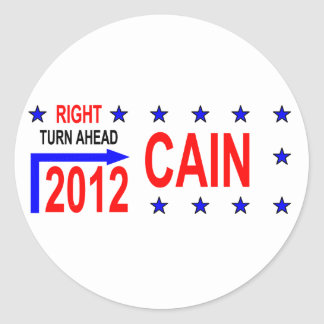 CAIN 2012 ROUND STICKERS