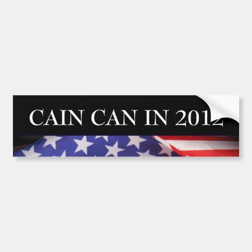 CAIN Can In 2012 Campaign Bumper Sticker