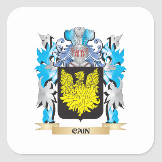 Cain- Coat of Arms - Family Crest Square Sticker