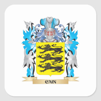 Cain Coat of Arms - Family Crest Square Stickers