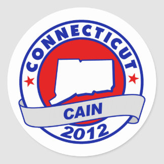 Cain - Connecticut Round Stickers