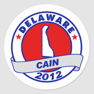 Cain - Delaware Round Stickers