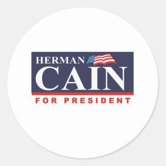 CAIN FOR PRESIDENT (Banner) Sticker