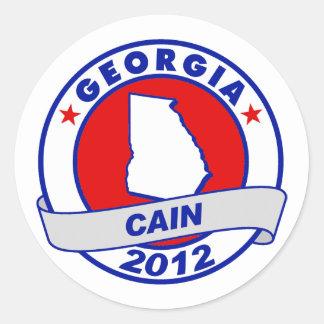 Cain - Georgia Round Stickers
