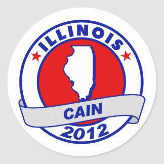 Cain - Illinois Round Stickers