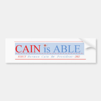 CAIN is ABLE Bumper Sticker