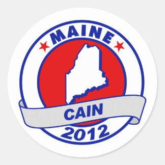 Cain - Maine Round Sticker
