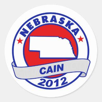 Cain - Nebraska Round Stickers