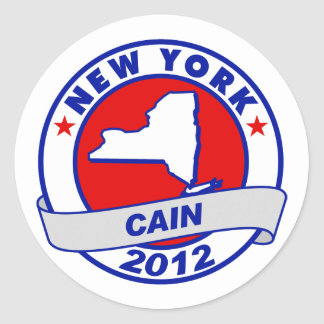 Cain - New York Round Stickers