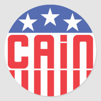 Cain Stars and Stripes Round Sticker
