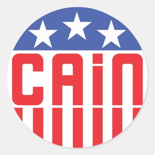 Cain Stars and Stripes Round Sticker