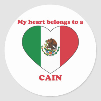 Cain Round Stickers