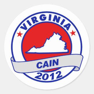 Cain - Virginia Round Sticker
