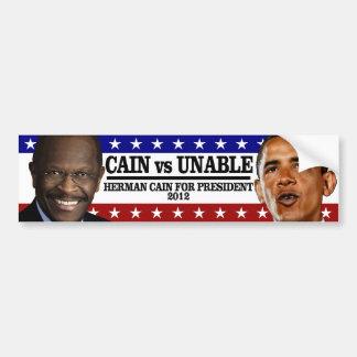CAIN vs UNABLE Bumper Sticker