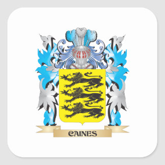 Caines Coat of Arms - Family Crest Square Stickers