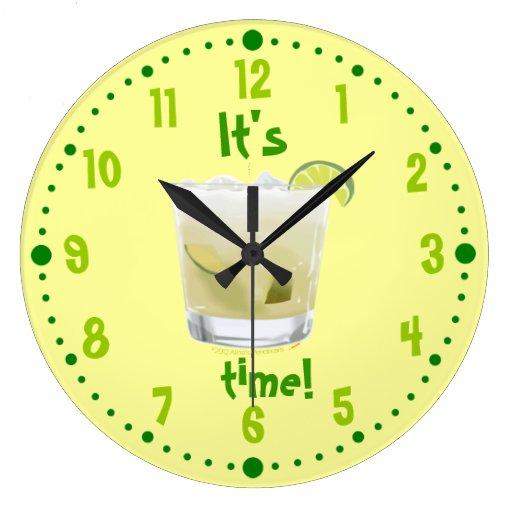 Caipirinha Brazilian Rum Coctail Clock W/ Minutes