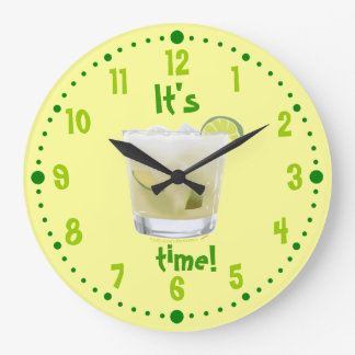Caipirinha Brazilian Rum Coctail Clock W Minutes