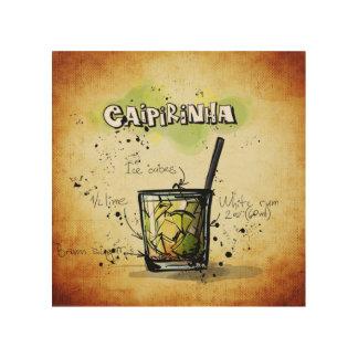 Caipirinha Cocktail Recipe Wood Wall Art