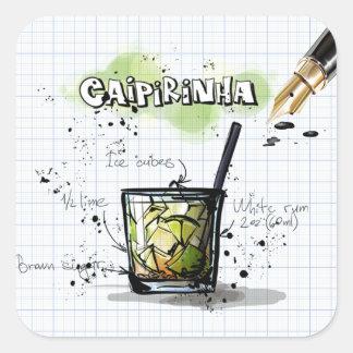 Caipirinha Square Sticker