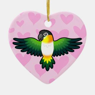 Caique / Lovebird / Pionus / Parrot Love Christmas Ornament