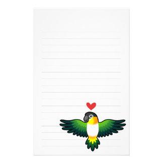 Caique / Lovebird / Pionus / Parrot Love Personalised Stationery