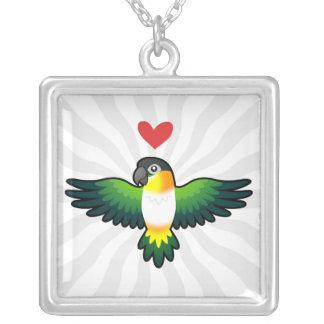 Caique / Lovebird / Pionus / Parrot Love Silver Plated Necklace