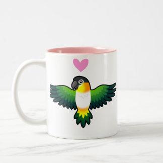 Caique / Lovebird / Pionus / Parrot Love Two-Tone Coffee Mug