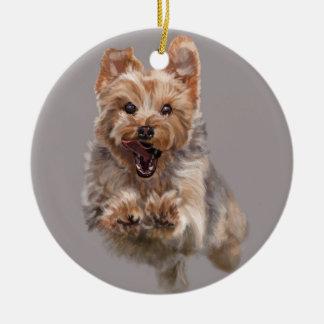 Cairn on the Run Christmas Ornament