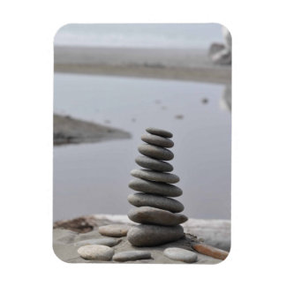 Cairn - Rock Stacking Rectangular Photo Magnet