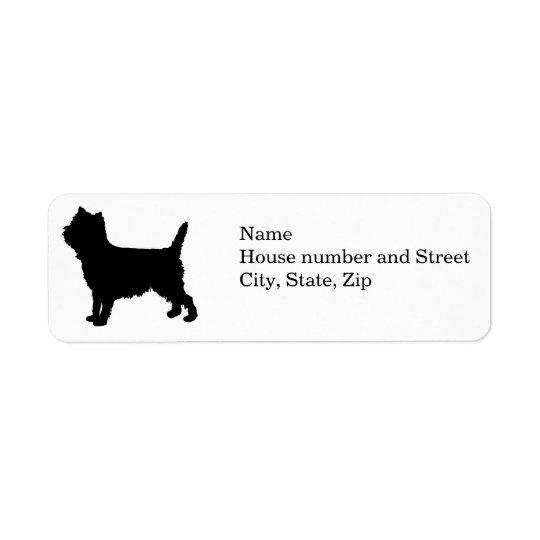 cairn silhouette Return address labels