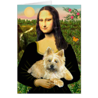 Cairn Terrier 23 - Mona Lisa Card