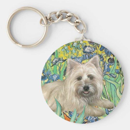 Cairn Terrier 4 - Irises Key Ring