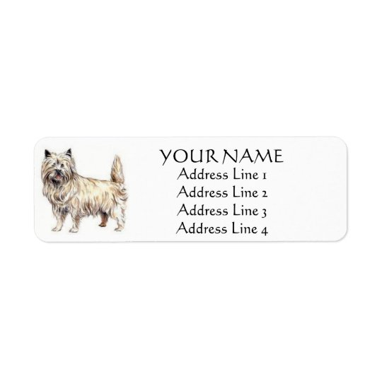 Cairn Terrier Address Labels