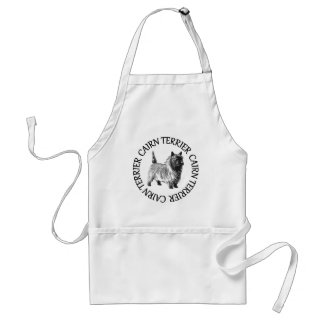 cairn terrier and text standard apron