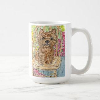 Cairn terrier art mug watercolour painting friend
