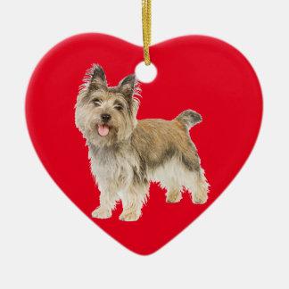 Cairn Terrier Ceramic Heart Decoration