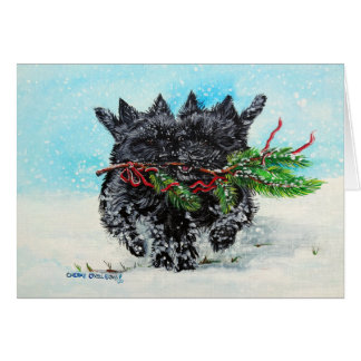 Cairn Terrier Christmas Card
