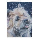 cairn terrier christmas card