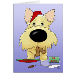 Cairn Terrier Christmas Greeting Card
