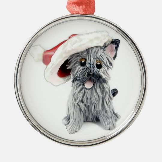 Cairn Terrier Christmas Ornament Grey