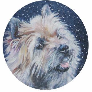 cairn terrier christmas ornament photo cutouts