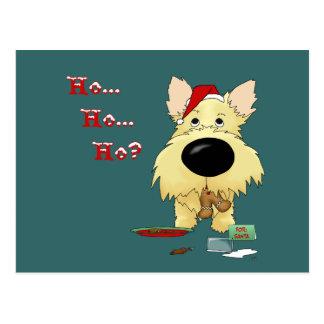 Cairn Terrier Christmas Post Card