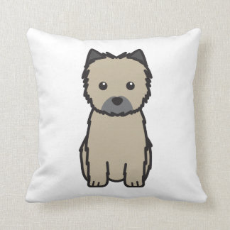 Cairn Terrier Dog Cartoon Cushion