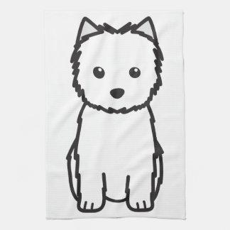 Cairn Terrier Dog Cartoon Tea Towel