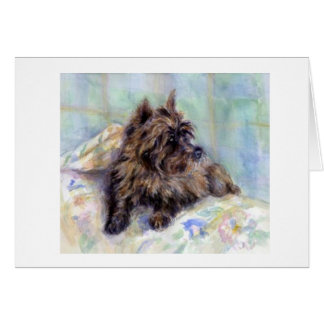 Cairn Terrier Dog Portrait Blank Greeting Card