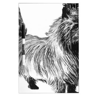 Cairn Terrier Dog Puppy Crown Dry Erase Board