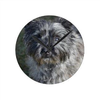 Cairn Terrier Face Round Clock