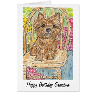 Cairn Terrier Happy Birthday Grandma Gran Card