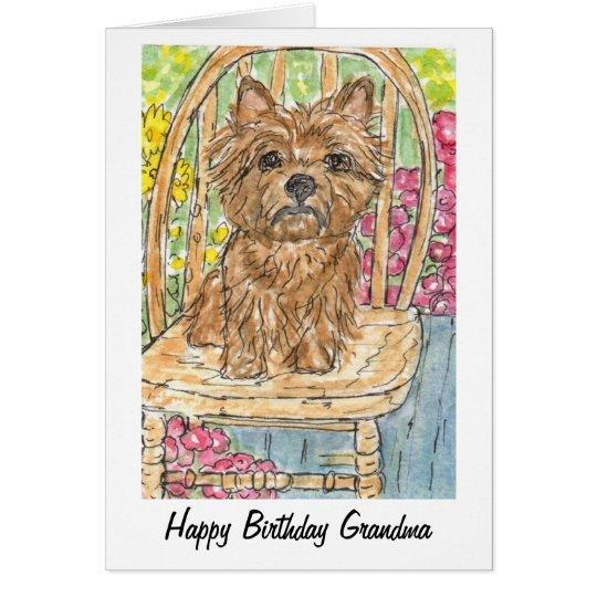 Cairn Terrier Happy Birthday Grandma Gran Card