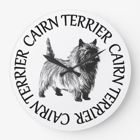 cairn terrier large clock